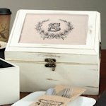 Antique White Wish Card Box (5 Personalized Designs)