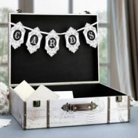 True Love Suitcase Card Box