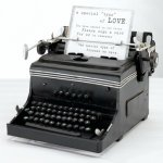 Vintage Mini Typewriter Decoration