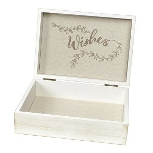 White Rustic Wooden Wishes Box image