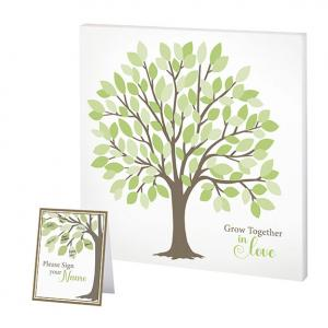 Wedding Tree Guest Book Alternative Signing Tree with Green image