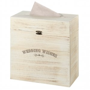 Rustic Wooden Wedding Wishes Card Box image