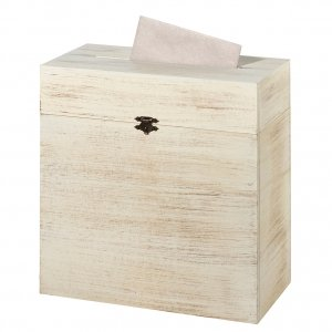 Rustic Wooden Card Box image