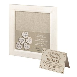 Small Guest Signing Hearts Frame image