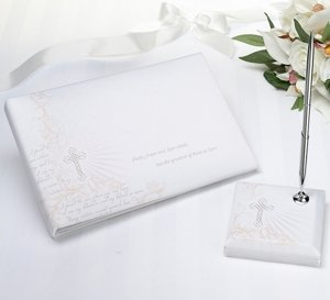 Christian Guest Book & Pen Set image