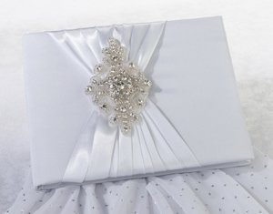 Jeweled Motif Elegant Wedding Guest Book image