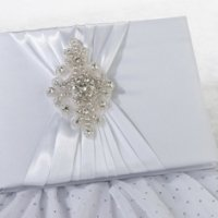 Jeweled Motif Elegant Wedding Guest Book