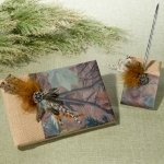 Camo Guest Book and Pen Set