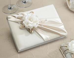 Taupe Rose Wedding Guest Signing Book image