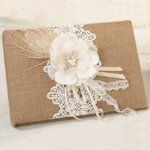 Burlap and Lace Wedding Guest Book