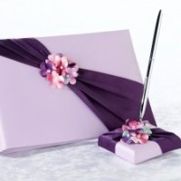 Radiant Flower Guest Book and Pen Set