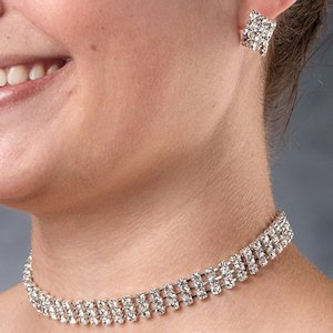Rhinestone Band Bridal Jewelry Set image