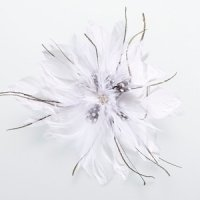 Feather Hair Clip-White