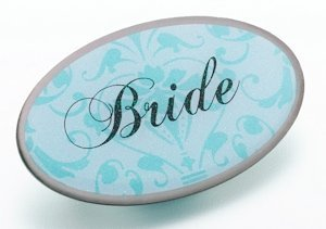 Bride Pin - Oval Aqua image