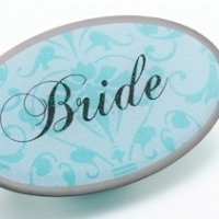 Bride Pin - Oval Aqua