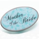 Mother of Bride Pin - Oval Aqua