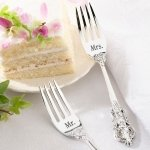 Mr. and Mrs. Silver Wedding Forks Set