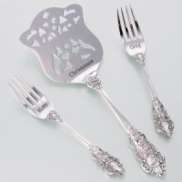 Wedding Cake Server and Fork Set (2 Personalized Options)