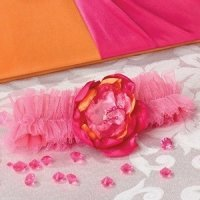 Hot Pink & Orange Tulle Garter
