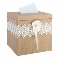 Burlap and Lace Card Box