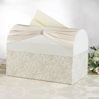 Ivory Sash Wedding Reception Card Holder