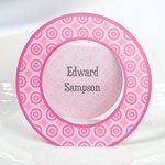 Pink Circle Place Cards (Set of 12)