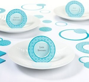Teal Circle Place Cards (Set of 12) image