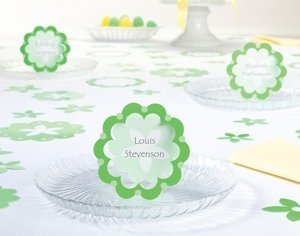 Green Flower Place Cards (Set of 12) image