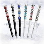 Beautifully Beaded Pens for Wedding Guest Books (6 Colors)