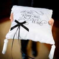 With This Ring I Thee Wed Ring Bearer Cushion