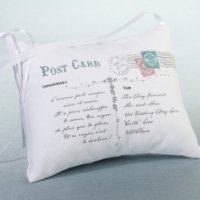 Postcard Ring Pillow