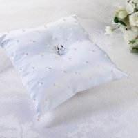 Scattered Pearls White Ring Pillow