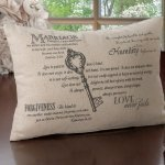 Christian Wedding Key Ring Pillow
