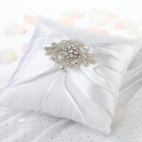 Jeweled Motif Ring Pillow