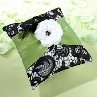 Green & Black Ring Pillow
