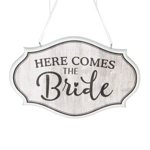 Here Comes the Bride Wedding Sign image