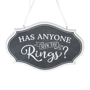 Has Anyone Seen the Rings Wedding Sign image