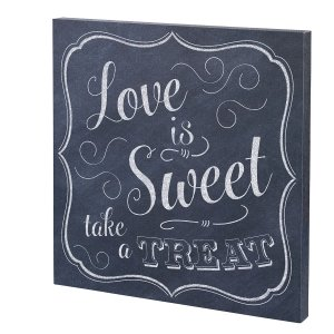 Love is Sweet Canvas Wedding Sign image
