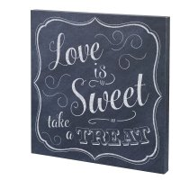 Love is Sweet Canvas Wedding Sign