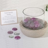 Glass Signing Stones Vase (Wedding Guest Book Alternative)