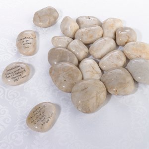 Natural Signing Stones (Wedding Guest Book Rocks) image