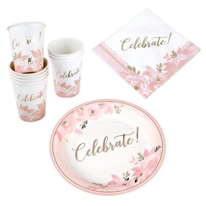 Pink and Gold Bridal Shower Celebration Set image