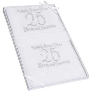Embroidered 25th Anniversary Towel Set image