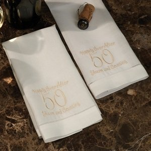 Embroidered 50th Anniversary Towel Set image