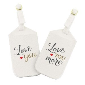 Love You More Luggage Tag Set image