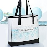 Bridesmaid Tote Bags - Aqua