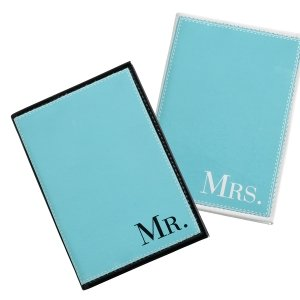 Mr & Mrs Aqua Passport Covers image