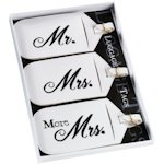 Mr. Mrs. and More Mrs. Luggage Tags Set