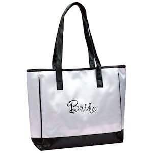 Bride's White Tote Bag image