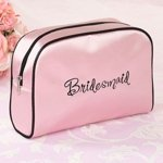 Pink Bridesmaid Makeup Bags